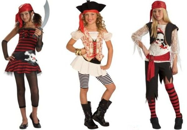 Костюм пирата для девочки из подручных материалов своими руками 41