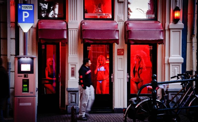 улица красных фонарей Голландия