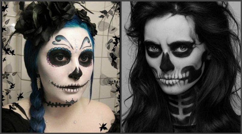 макияж на Хэллоуин для девушек