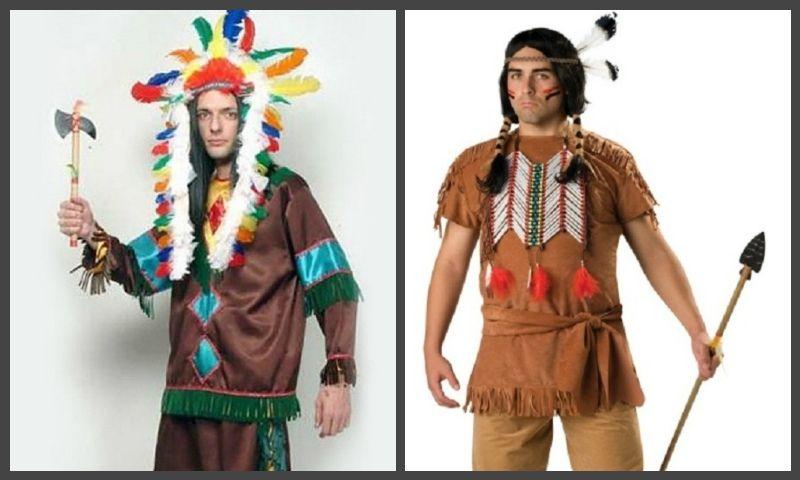 костюм и аксессуары индейца