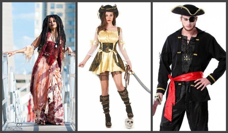 костюм пирата женский и мужской