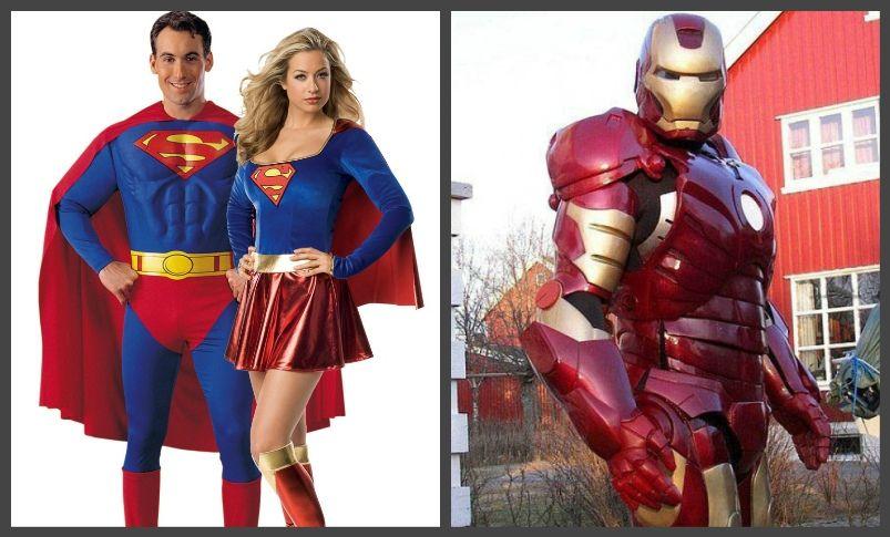 супермен, железный человек костюм