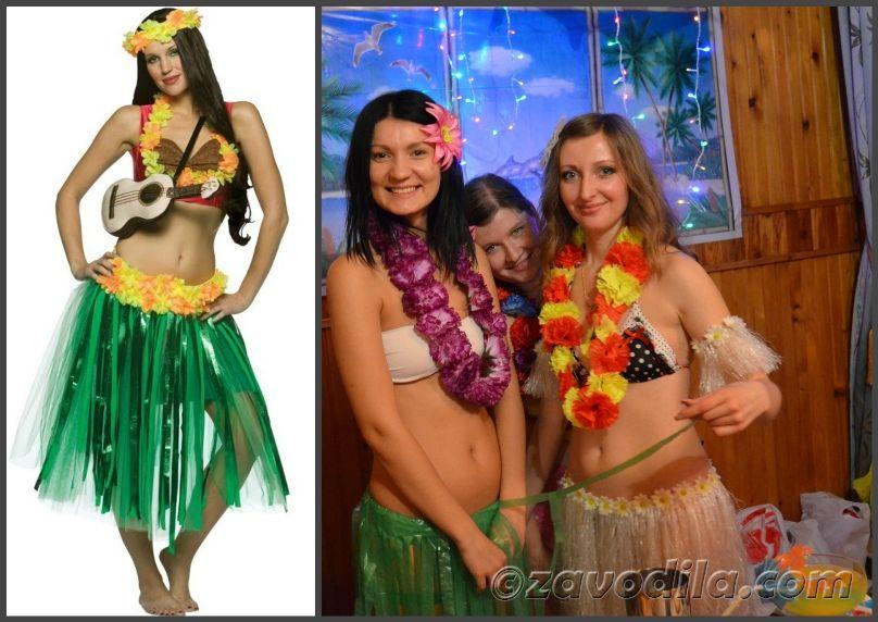 гавайская вечеринка: костюмы своими руками