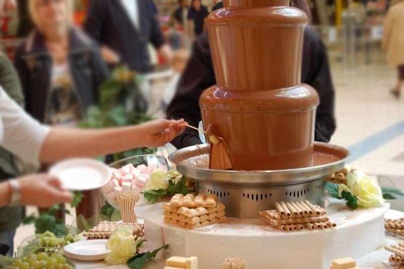 меню, угощения: шоколадный фонтан