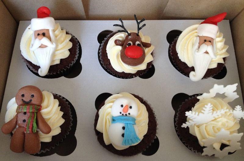 новогодние капкейки пирожные