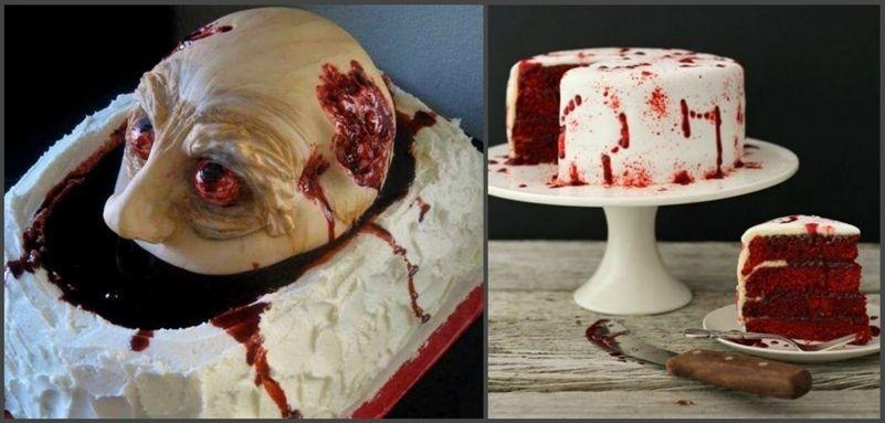 страшный торт ужасы Хэллоуин