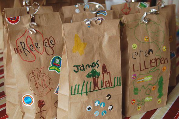 новогодние подарочные пакеты руками детей
