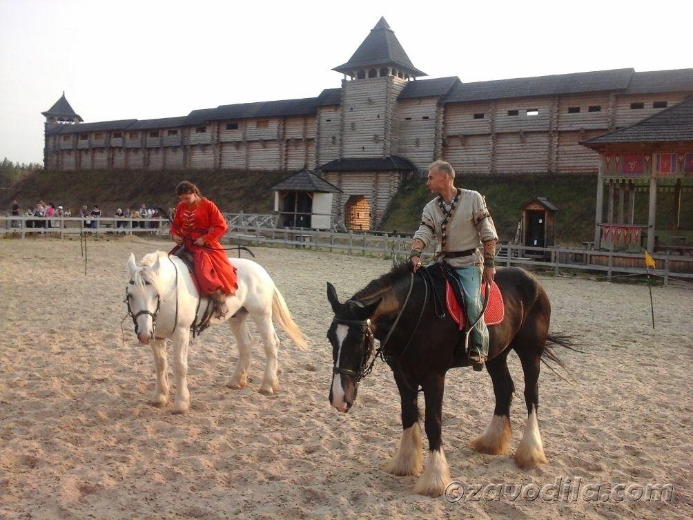 стрельба из лука с лошадей