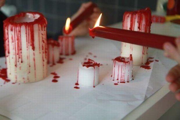 свечи с кровью