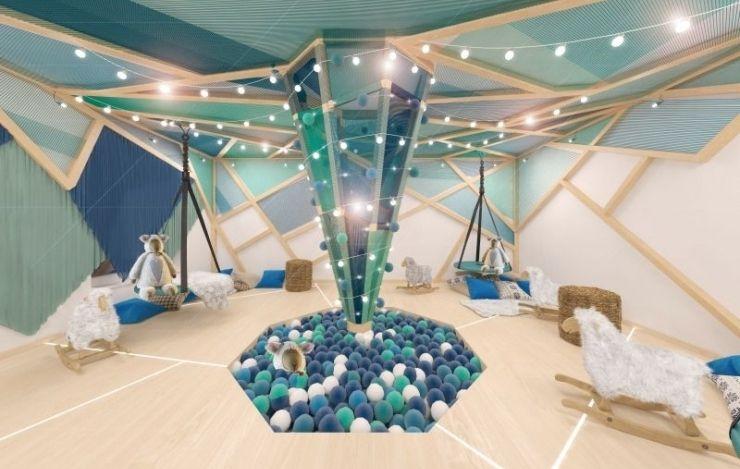 оформление помещения на Новый год шарами и гирляндами