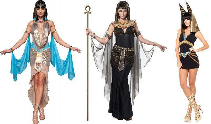 женские костюмы и образы, Клеопатра, Нефертити