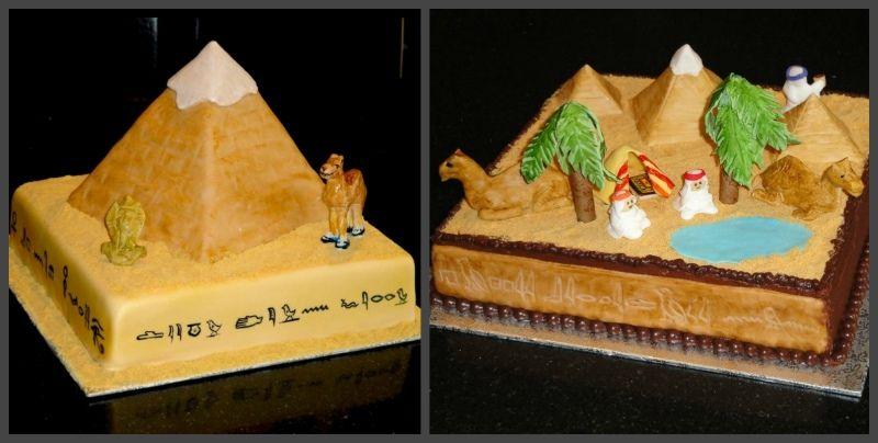тематический египетский торт