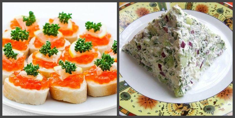 угощения, египетский салат и винегрет