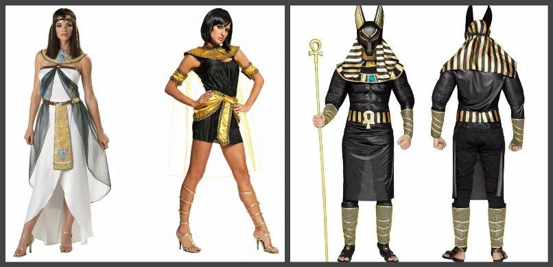 костюмы египтян и богов
