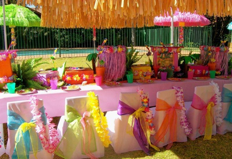 гавайская вечеринка оформление декор