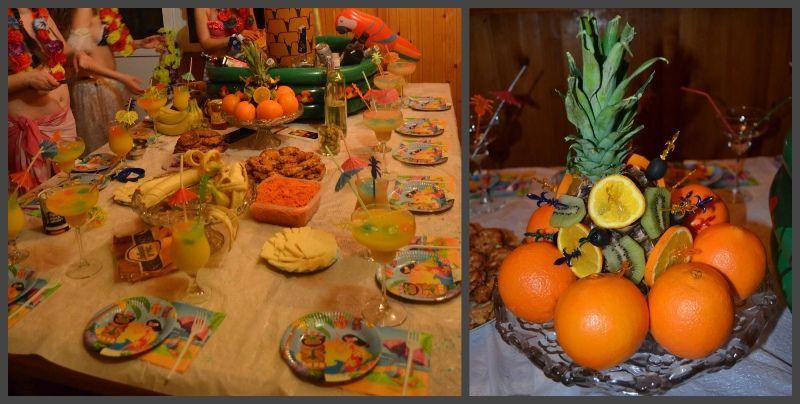 оформление стола, фрукты