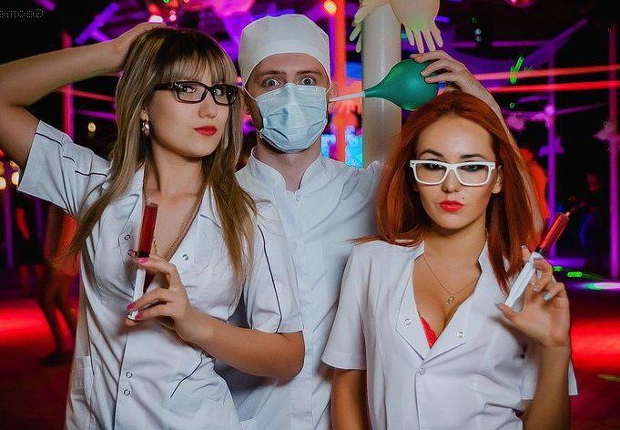 вечеринка в медицинском стиле