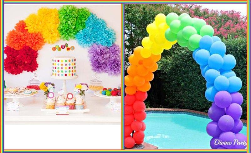 вечеринка радуга оформление