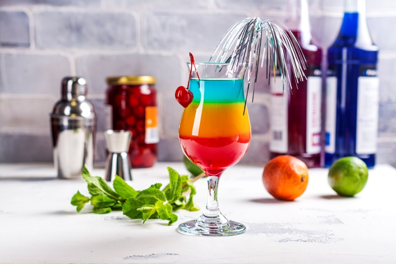 Rainbow party cocktails
